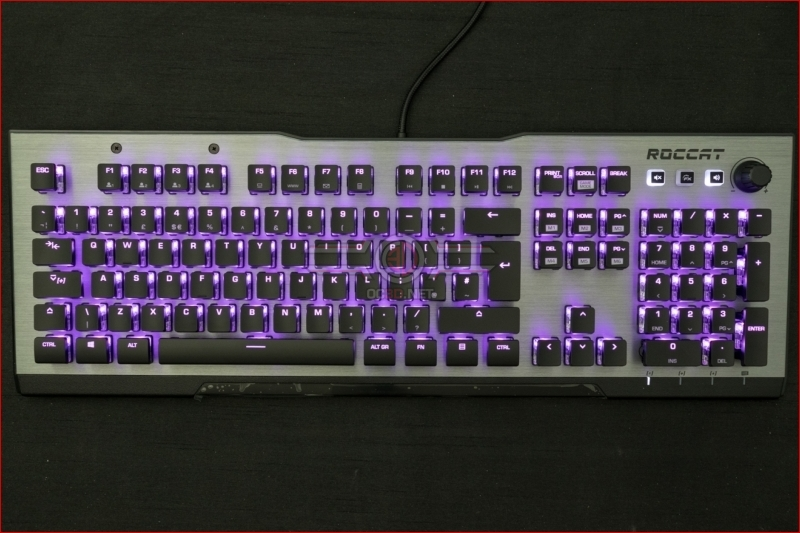 Roccat Vulcan 120 AIMO Gaming Keyboard Purple