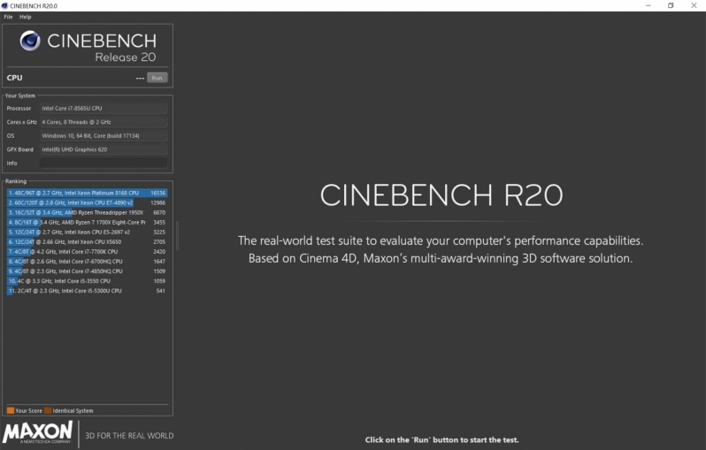 Cinebench R20 is now available as a Standalone Download