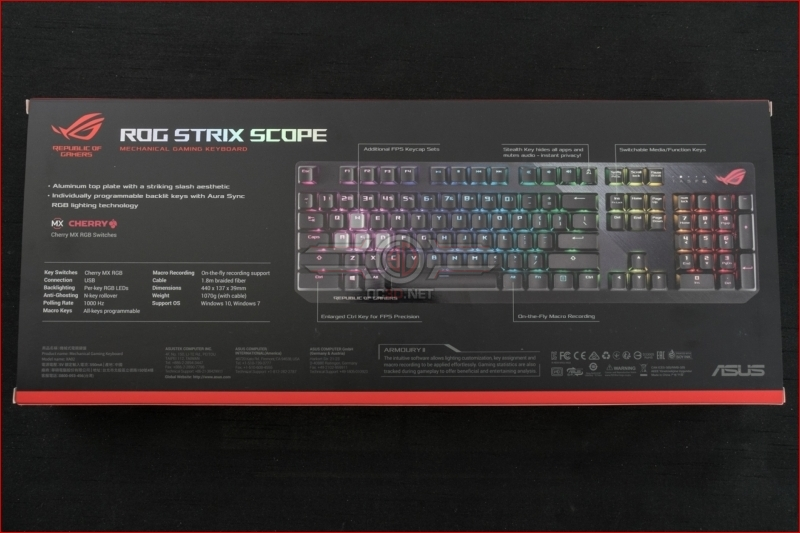 ASUS ROG Strix Scope Gaming Specifications