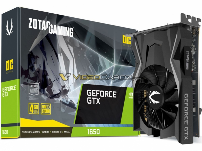 Zotac's GTX 1650 has leaked - Sub-75W TDP confirmed
