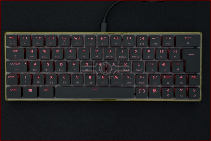 Cooler Master SK621 Wireless Keyboard Red