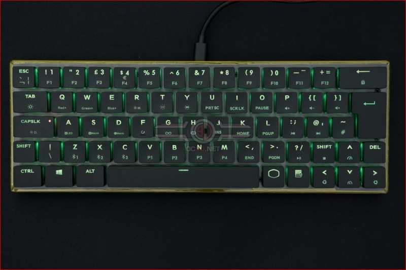 Cooler Master SK621 Wireless Keyboard Green