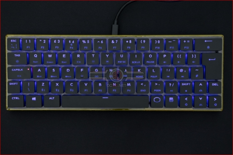 Cooler Master SK621 Wireless Keyboard Blue