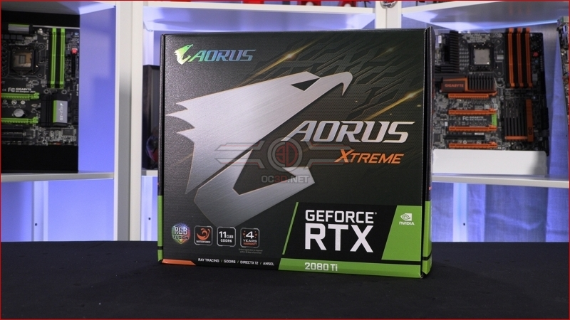 Gigabyte RTX 2080Ti Aorus Extreme Waterforce 11G Packaging
