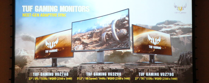 ASUS reveals their TUF series of Gaming Monitors with ELMB-Sync Tech