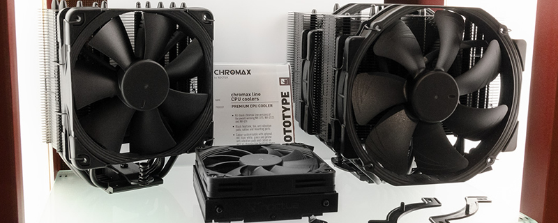 Noctua's All-Black Chromax CPU Coolers and Fans are