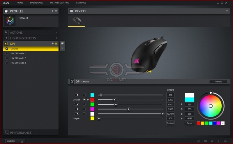 Corsair M55 RGB Pro DPI Options