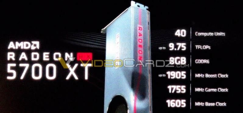 Specifications for AMD's Navi-based Radeon RX 5700XT Leak