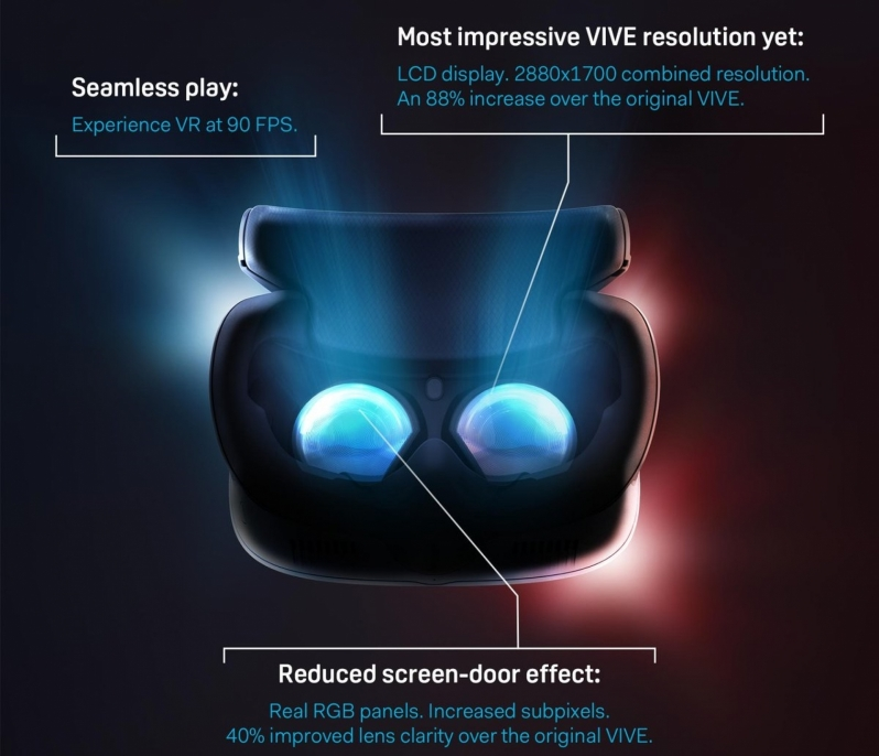 HTC's Vive Cosmos has the company's highest-resolution screens to date