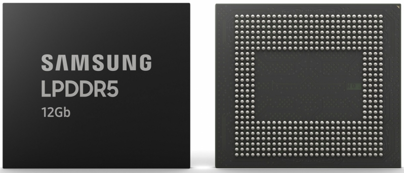 Samsung begins mass production of 12Gb LPDDR5 DRAM modules