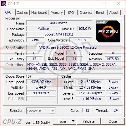 MSI MEG X570 ACE CPU overclocking