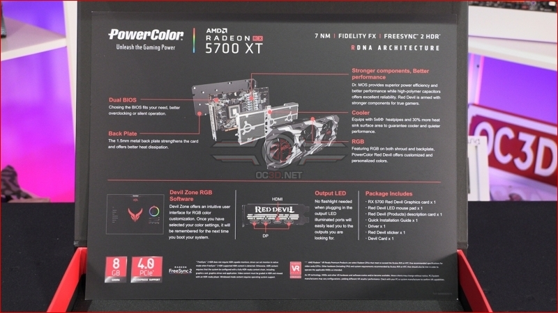 PowerColor Red Devil RX 5700 and RX 5700 XT LE Features
