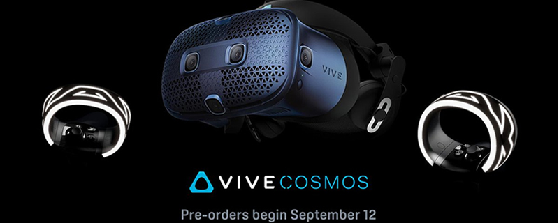 HTC's Vive Cosmos VR headset will become available to pre-order on September 12th