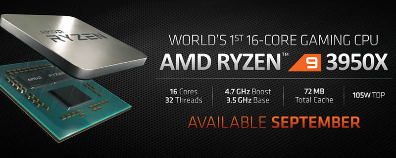 AMD's Ryzen 9 3950X and Threadripper 3rd Gen are coming this November