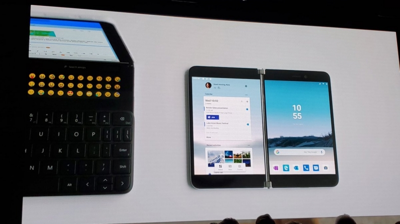 Dual-screen Surface Duo smartphone revealed by Microsoft