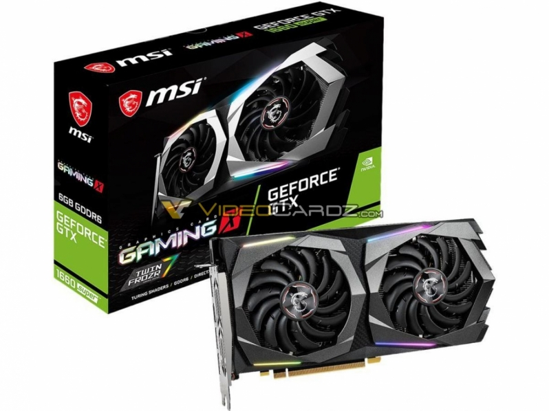 MSI's GTX 1660 Super Gaming X and Ventus XS have been pictured