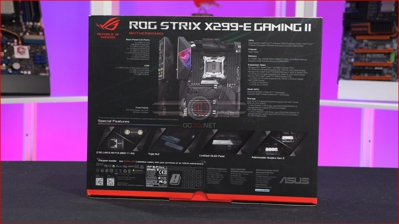 ASUS ROG Strix X299-E Gaming II Packaging