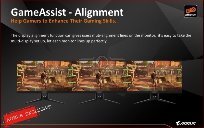 Gigabyte Aorus F127Q-P HBR3 HDR 165Hz Gaming Monitor Alignment