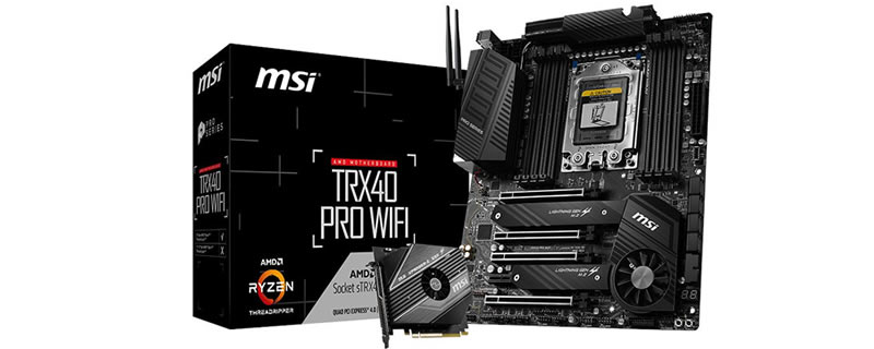 MSI's first TRX40 motherboards have been pictured