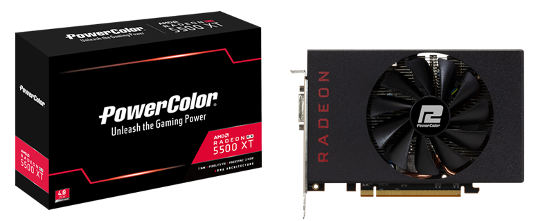 PowerColor's RX 5500 XT 4GB is the Reference Model that AMD Didn't Release