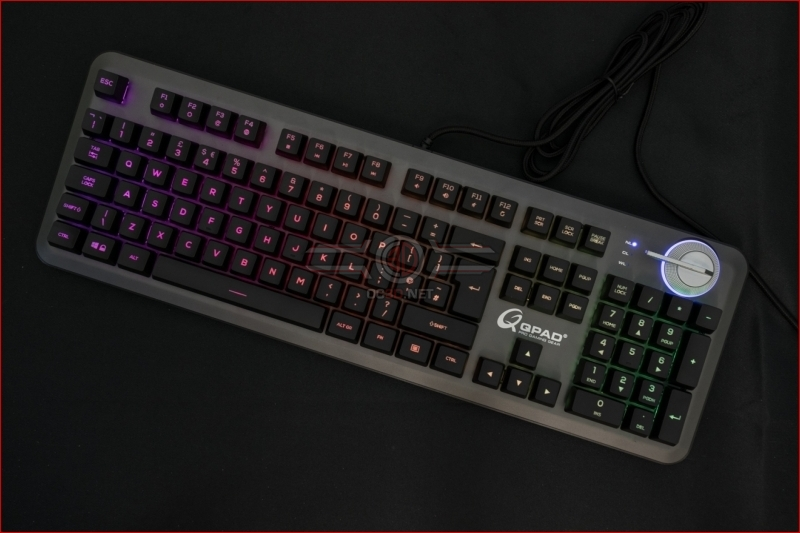 QPAD MK-95 Opto Mechanical Switch Keyboard Lighting