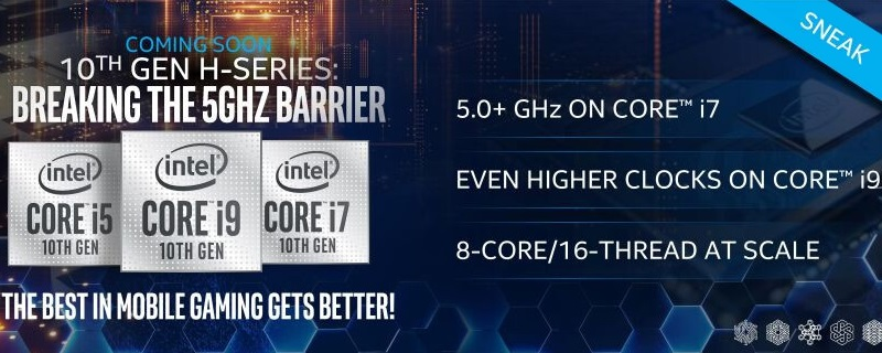 Intel teases 10th Generation Comet Lake-H mobile CPUs that break the 5GHz barrier - CES 2020