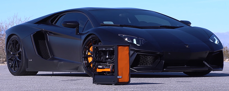 OC3D helps Greg Salazar create a Lamborghini Aventador inspired gaming PC with Fractal Design