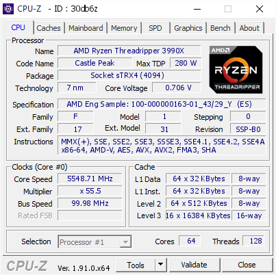 AMD's 64-core Ryzen Threadripper 3990X has already been pushed to 5.5GHz by overclockers