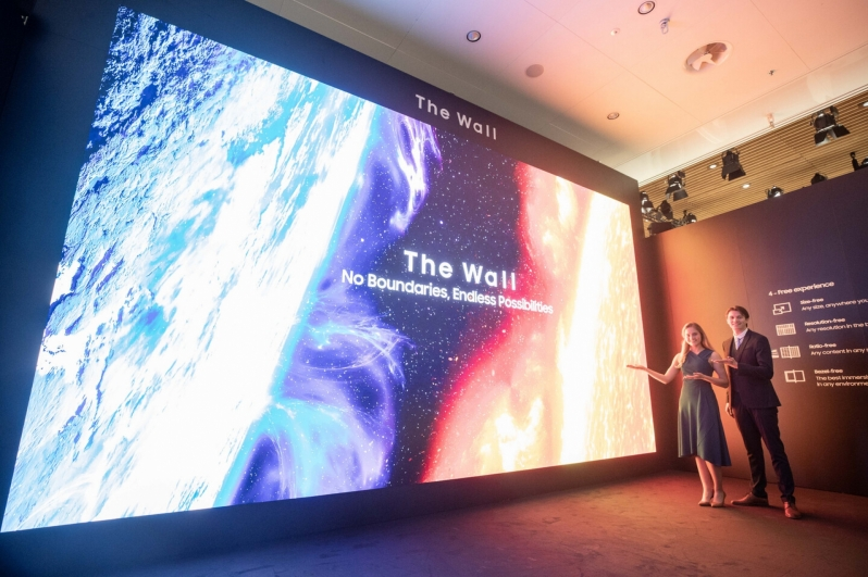 Samsung wows ISE 2020 attendees with their 583-inch