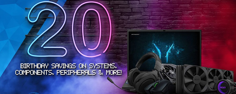 Overclockers UK kicks off its 20th Anniversary Sale with some incredible deals