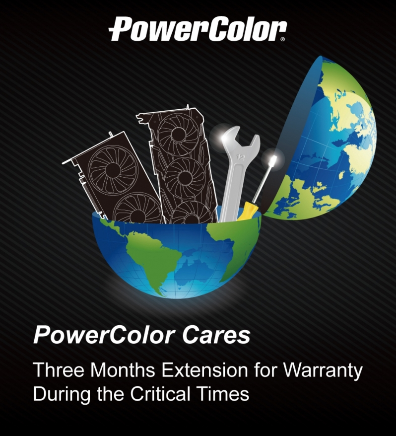 PowerColor has extended its product warranties in by three months