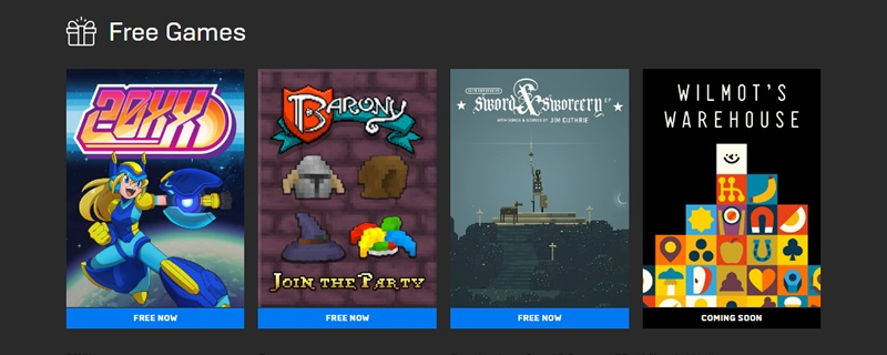 20XX, Barony and Superbrothers: Sword & Sworcery EP are all available for free on the Epic Games Store