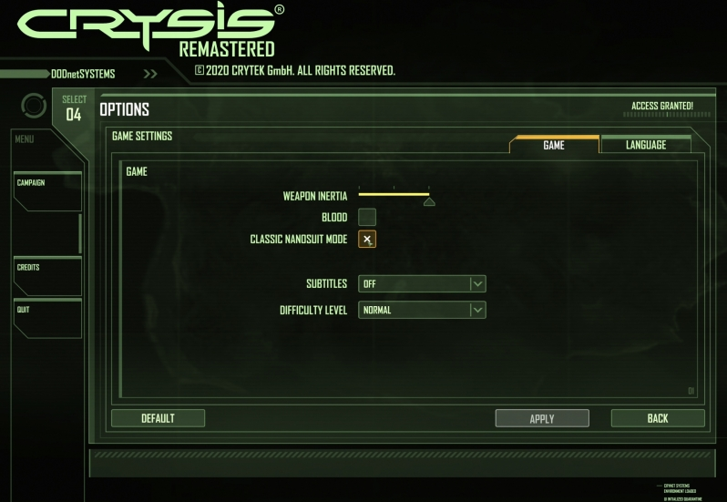 How to use Crysis Remastered's