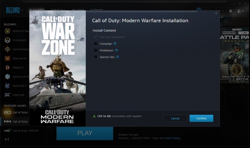 How to Reduce Call of Duty: Modern Warfare's Install Size on PC