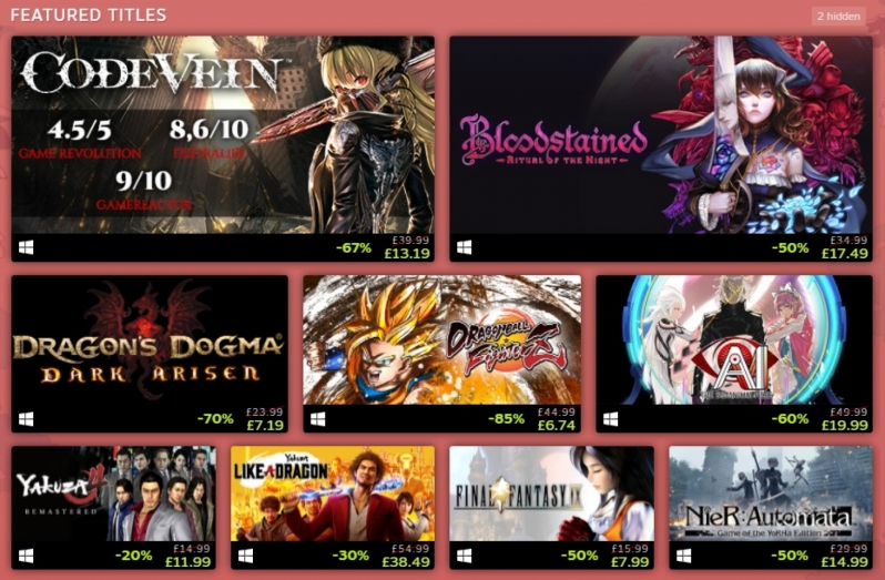 Get Japanese games at bargain prices during Steam's Golden Week Sale
