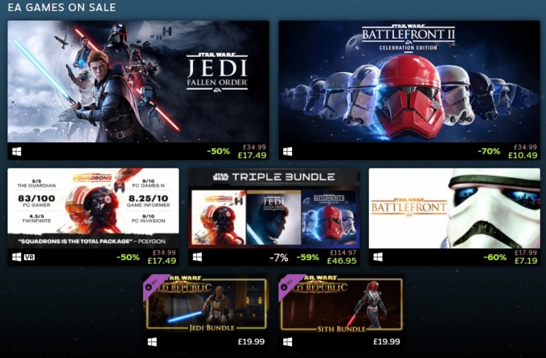 Celebrate May 4th with some Star Wars Gaming Bargains - Steam's May the 4th sale begins