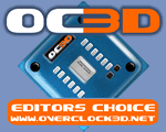 Overclock3D Editors Choice Award