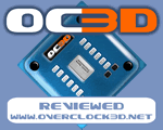 Overclock3D Reviewed Award