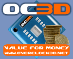 Overclock3D Value For Money Award
